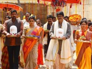 Soggade Chinni Nayana shooting at 1500-year-old Vishnu temple, Mysore