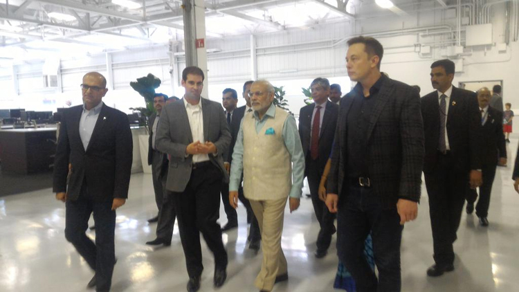 Narendra Modi discusses battery technology's impact on India at Tesla