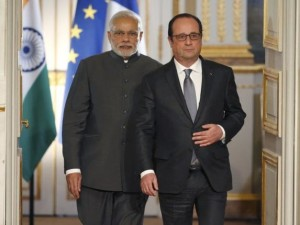 PM Modi meets British PM, French President