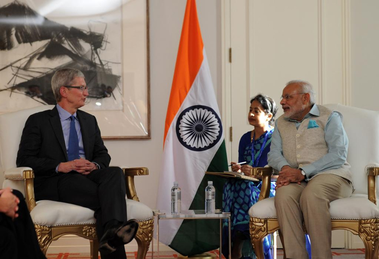 Apple CEO Tim Cook meets Narendra Modi; invokes Steve Jobs' India connection