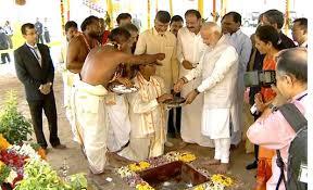 PM Narendra Modi lays foundation stone for AP's new capital Amaravati